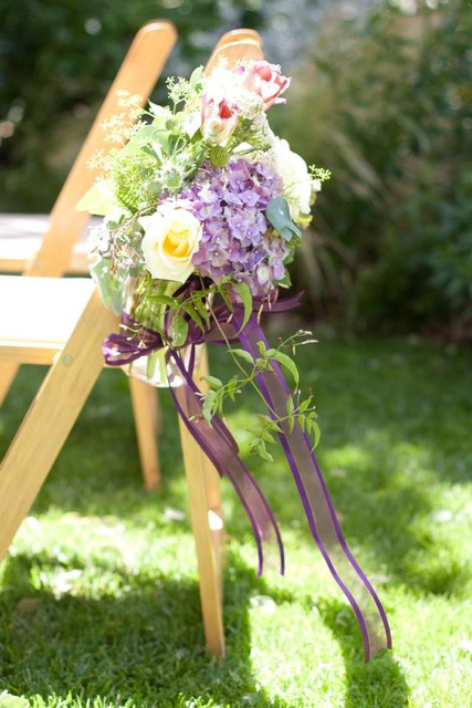 Ru's Farm | Flowers on the chairs